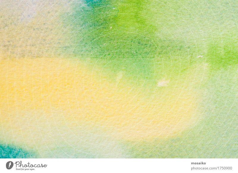 green watercolors on paper texture - natural greenery Stil Design Freizeit & Hobby Handarbeit Dekoration & Verzierung Kunst Kunstwerk Papier ästhetisch