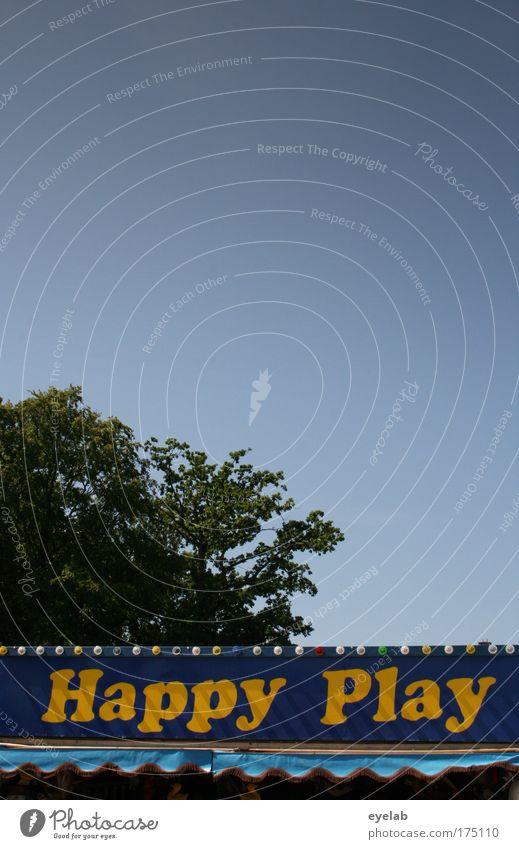 = Happy Day Himmel blau Baum Freude Erholung Glück Stimmung Wetter Freizeit & Hobby Erfolg Hoffnung Pause Dienstleistungsgewerbe Jahrmarkt Schönes Wetter Risiko