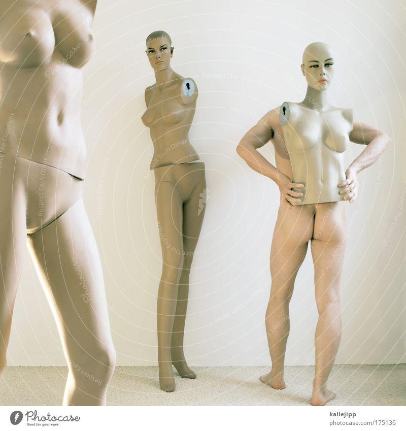 rutsch mir den buckel runter Mensch Frau Mann Jugendliche Erwachsene Akt feminin nackt Kopf Körper 18-30 Jahre Haut maskulin verrückt Bekleidung Frauenbrust