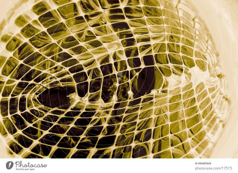 verfangen in ......! Nacht Duplex Handwerk fremd gefangen Kunst verrückt dunkel Freak Gitter liquide Glas Netz night color magic anonym inventiert Makroaufnahme