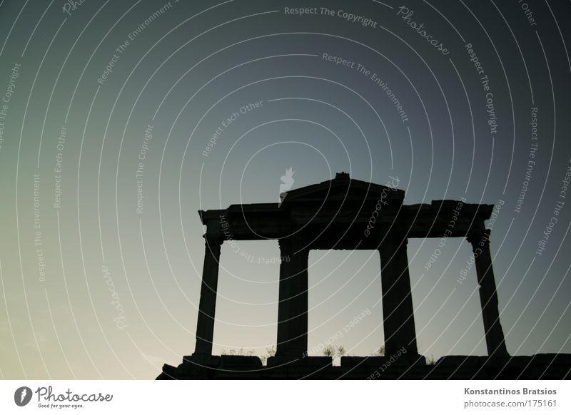 a piece of Athens #02 Farbfoto Außenaufnahme Menschenleer Textfreiraum links Textfreiraum oben Hintergrund neutral Abend Silhouette schön