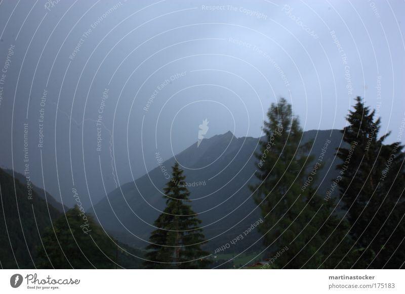 Gewitter Himmel weiß blau Baum Sommer schwarz dunkel Berge u. Gebirge Landschaft Umwelt Stein hell Angst Wind groß Pfeil