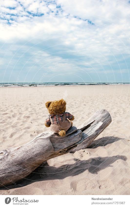 Stockfotografie .... Himmel Ferien & Urlaub & Reisen Wasser Sonne Meer Wolken Ferne Strand Freiheit Sand träumen Luft Wellen Insel Schönes Wetter Urelemente