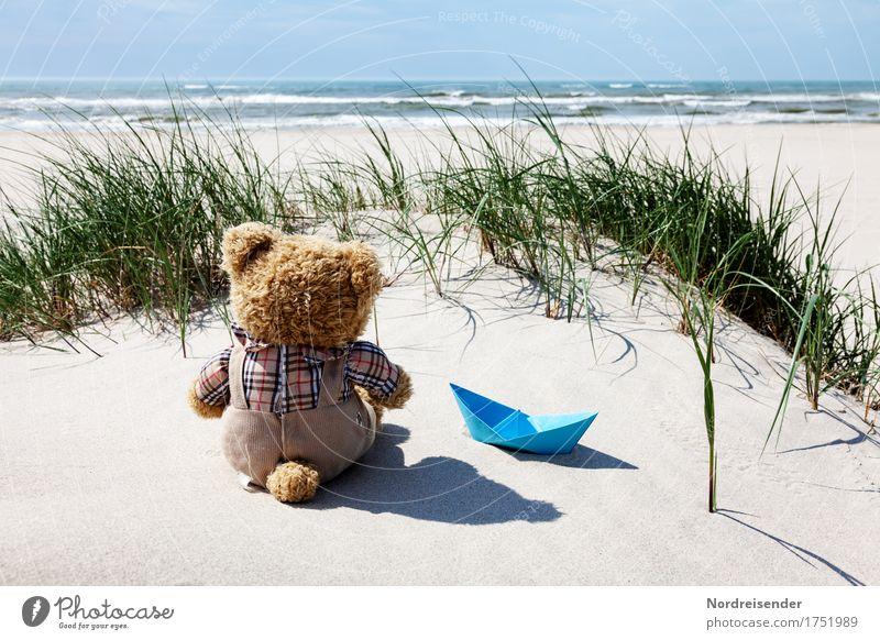 Sommerurlaub Ferien & Urlaub & Reisen Tourismus Abenteuer Ferne Freiheit Camping Sonne Sonnenbad Strand Meer Wellen Urelemente Sand Wasser Schönes Wetter