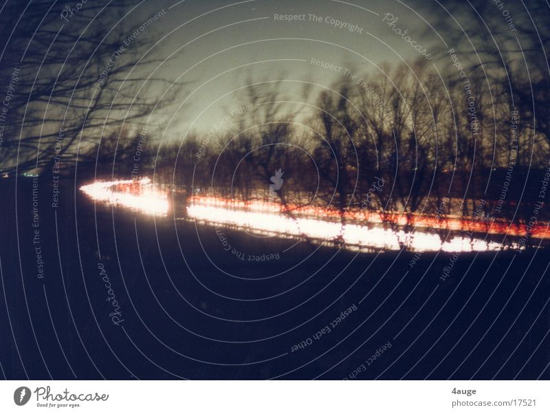 Autobahnnacht 1 Nacht Licht rot weiß Verkehr