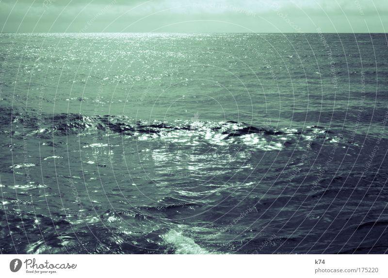 seascape III Wasser Meer grün blau ruhig Bewegung Landschaft Kraft Wellen glänzend Horizont Lebensfreude