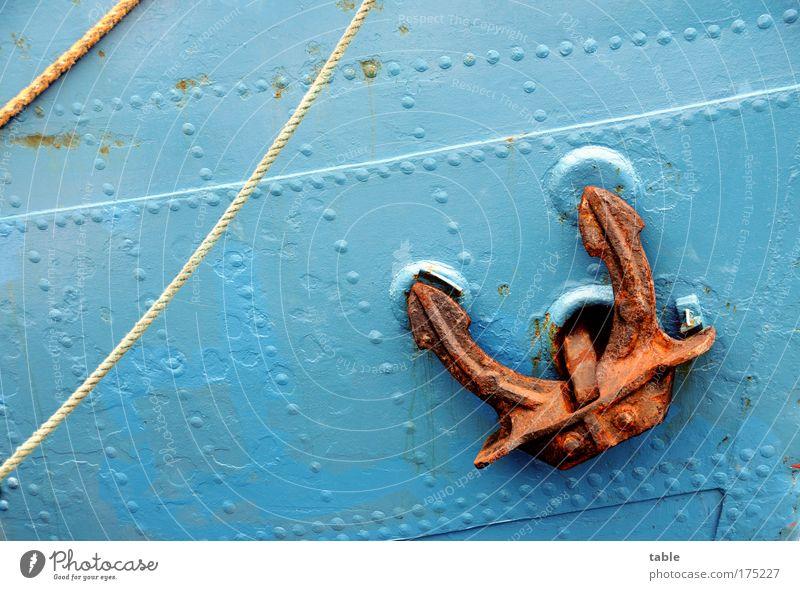 (KI09.01) Leinen los! blau Ferien & Urlaub & Reisen Meer Freude Ferne Freiheit Metall Wasserfahrzeug Freizeit & Hobby Ausflug Abenteuer Tourismus Seil Hafen