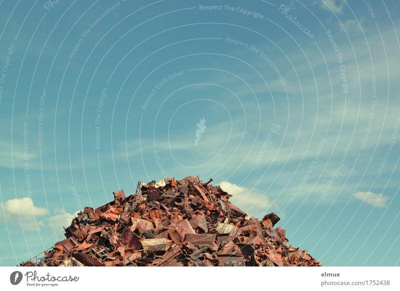 Alles Müll oder was? (4) Himmel Schönes Wetter Schrott Schrottplatz Müllhalde Halde Industrieabfall entsorgen Sekundärrohstoff Wiederverwendung Rost Metall