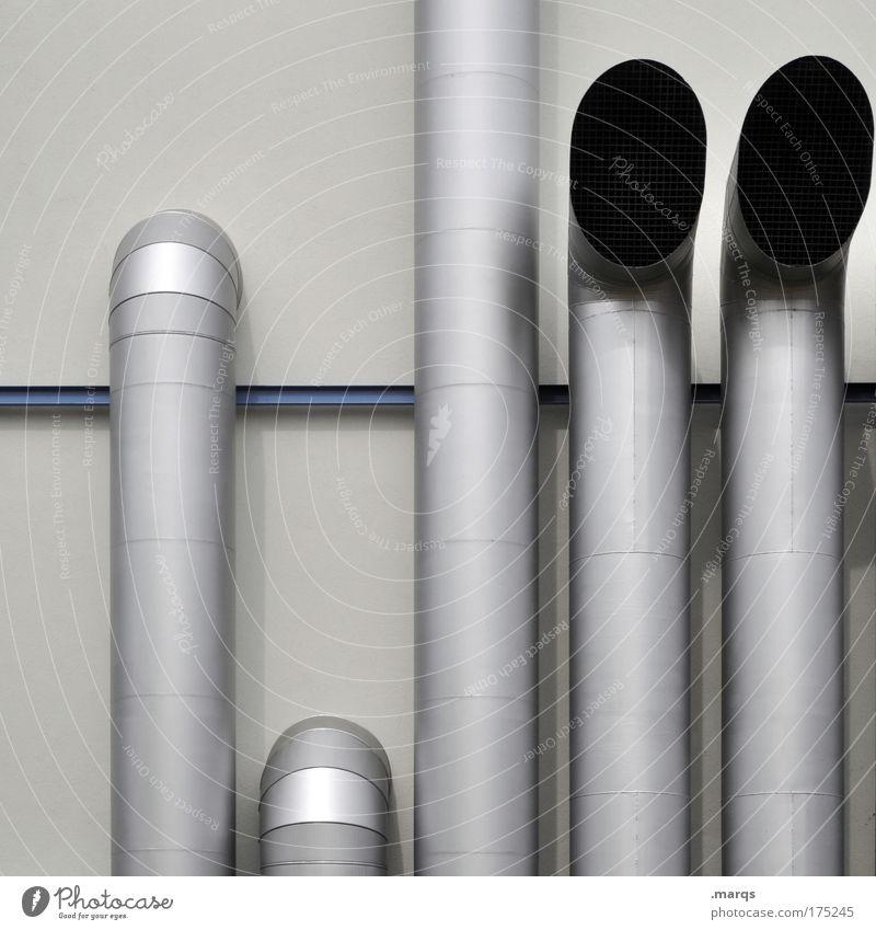 Tube Umwelt Architektur Gebäude Metall elegant Fassade hoch Energiewirtschaft Klima Lüftung außergewöhnlich Zukunft trist Industrie Technik & Technologie Sauberkeit