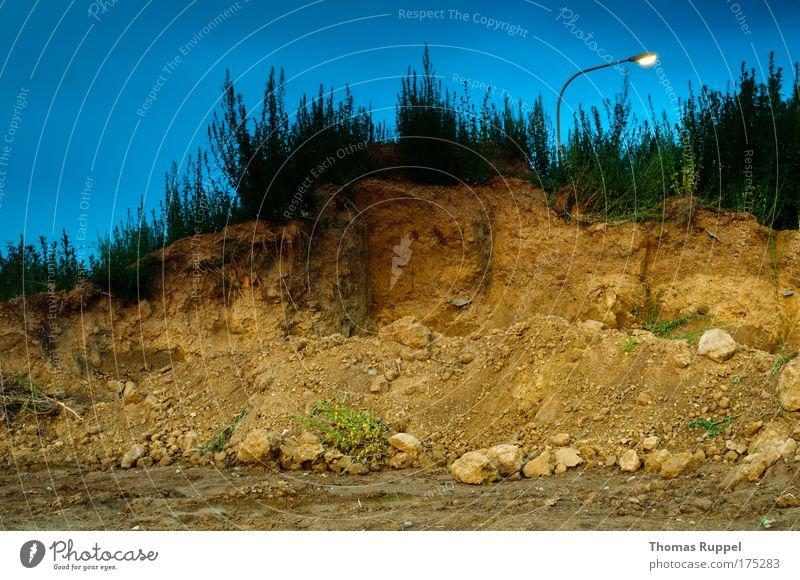 Lampen(berg) Himmel Natur blau Pflanze dunkel Umwelt Berge u. Gebirge hell braun Deutschland Erde authentisch Europa Hügel Laterne