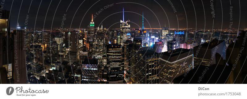 Manhattan at Night Stadt Tourismus Hochhaus groß USA Skyline Amerika Sehenswürdigkeit Städtereise gigantisch