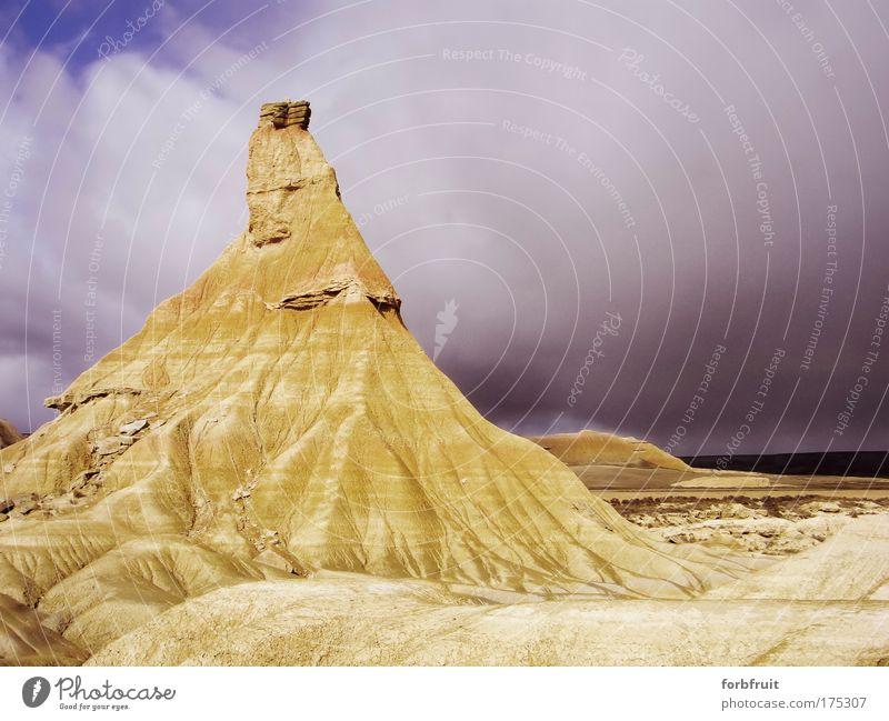 Capitano Natur Himmel Ferien & Urlaub & Reisen Wolken gelb Stein Sand Landschaft Umwelt Felsen Erde authentisch fest trocken bizarr Originalität