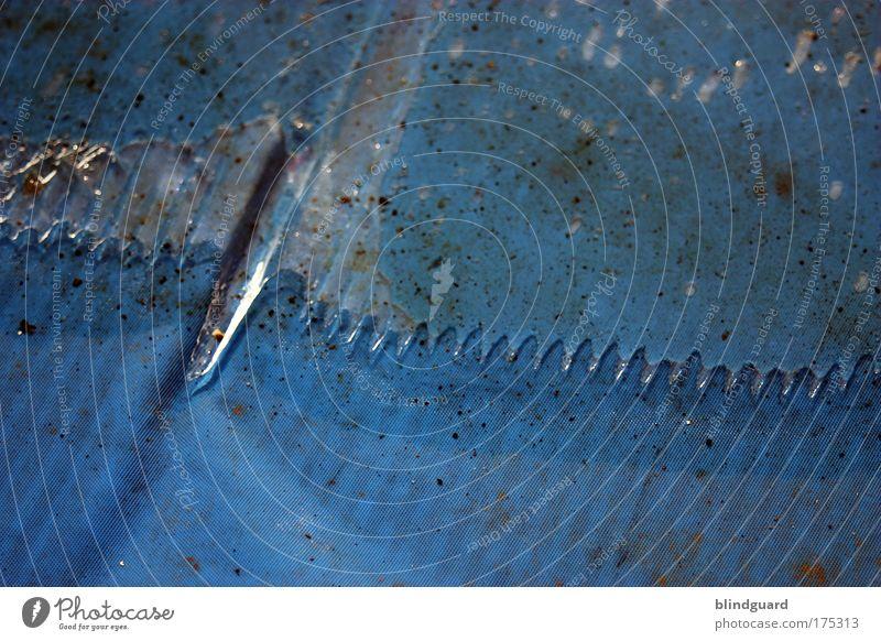 Abrisskante Wasser blau Winter kalt Eis Wassertropfen nass kaputt Klima dünn Spitze fest natürlich Flüssigkeit Grenze gefroren