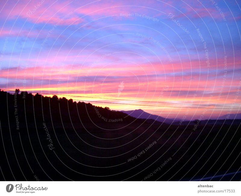 Abendblau Abendsonne