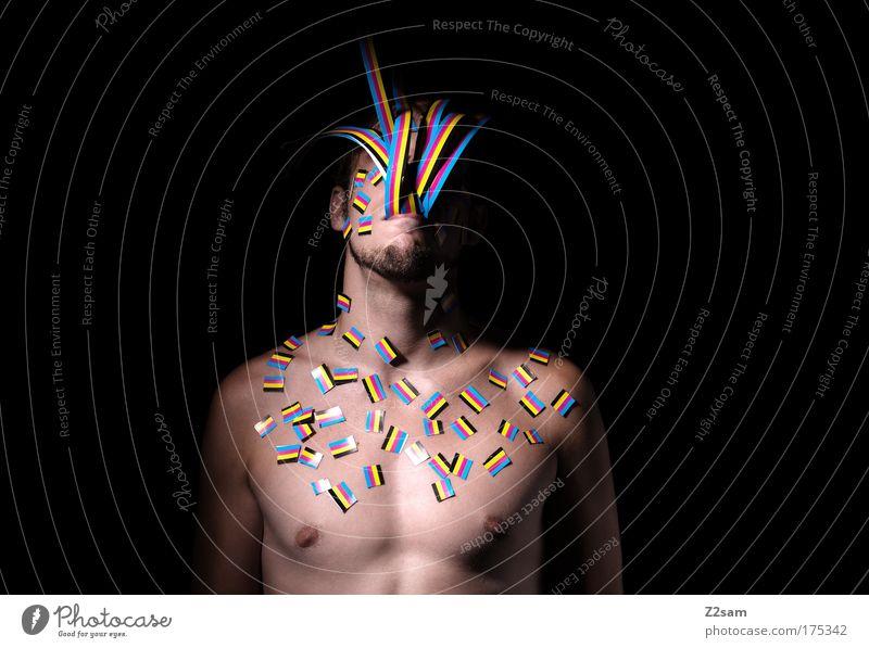 proofmonster Mensch Jugendliche Farbe Kopf Gefühle Erwachsene Denken Körper Porträt Design maskulin ästhetisch Wachstum Papier Coolness