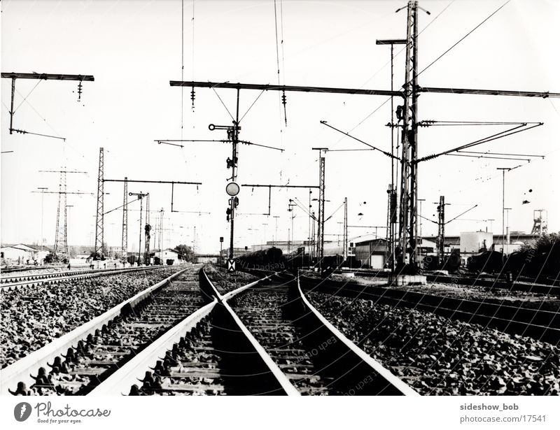Bahnschienen Gleise Verkehr Eisenbahn