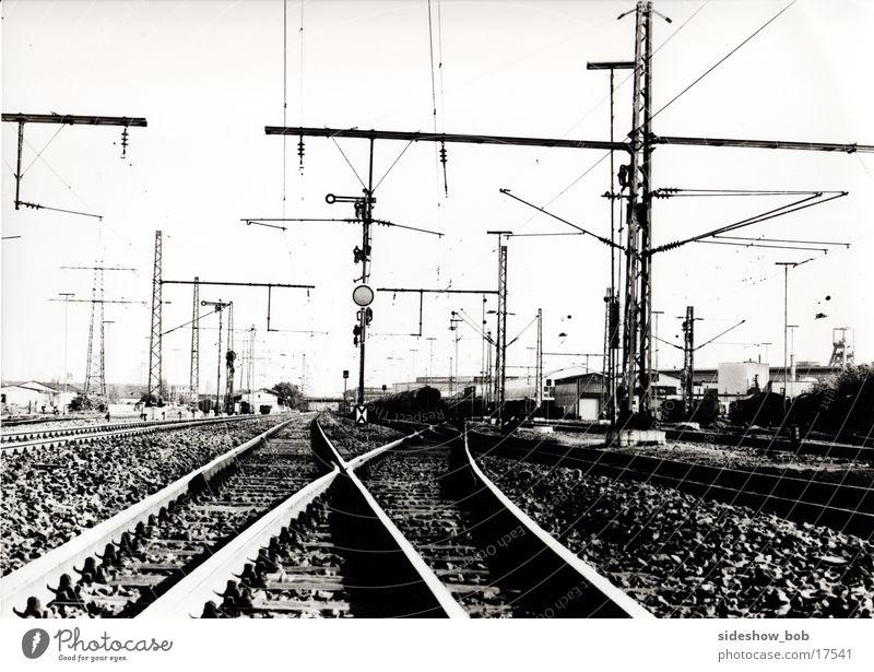 Bahnschienen Verkehr Eisenbahn Gleise