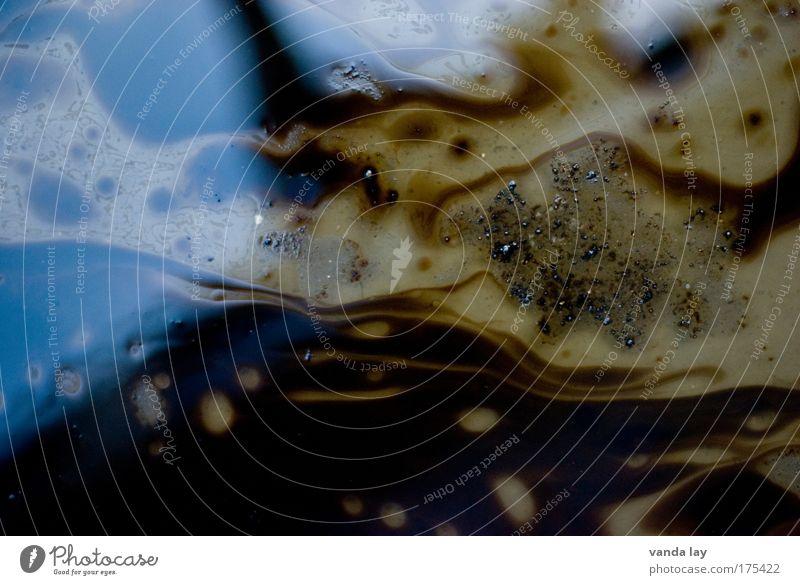 Altöl Wasser braun dreckig Umwelt Energie Ende Müll Flüssigkeit abstrakt Erdöl Urelemente chaotisch Desaster Rohstoffe & Kraftstoffe Mischung
