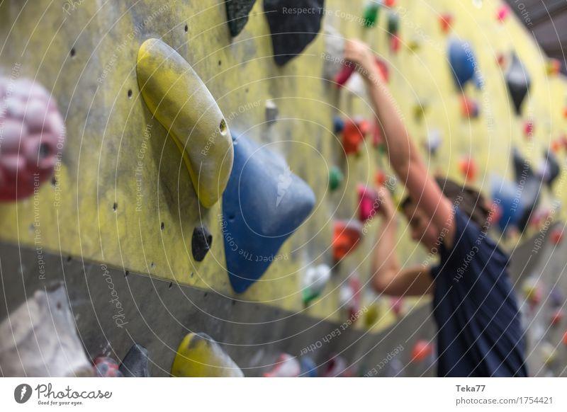 Boulder Halle 1 Freizeit & Hobby Sport Fitness Sport-Training Bouldern Mensch Hand Mauer Wand ästhetisch Farbfoto Innenaufnahme Nahaufnahme