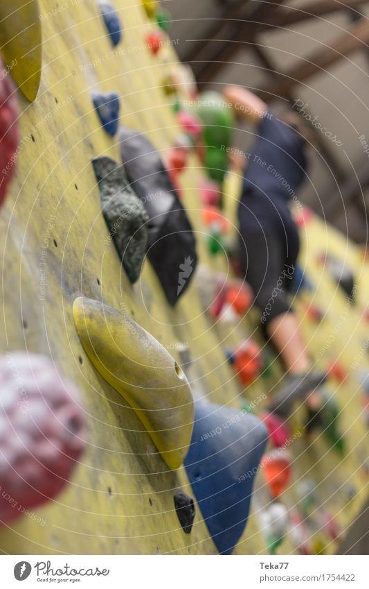 Bouldern III Freizeit & Hobby Sport Fitness Sport-Training Klettern Bergsteigen Leichtathletik Mensch Hand Mauer Wand Abenteuer Kontrolle Konzentration