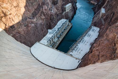 Wasserspender Stadt Umwelt Felsen Energiewirtschaft Zukunft Klima USA Beton Fluss Bauwerk Zukunftsangst Amerika Sehenswürdigkeit Wahrzeichen Umweltschutz
