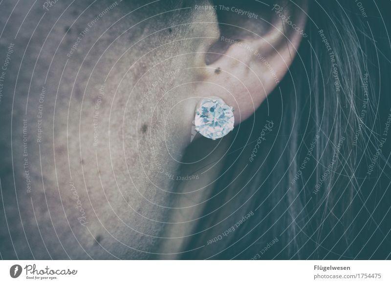 Brilli Diamant Ohr Ohrringe Haare & Frisuren Schmuck Kreis Ring schön