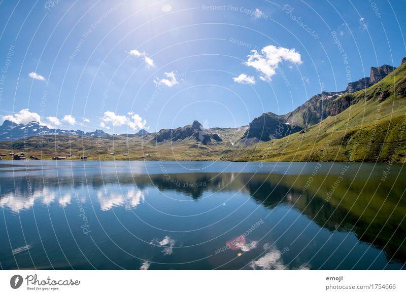 CH Umwelt Natur Landschaft Sommer Schönes Wetter Alpen Berge u. Gebirge See natürlich blau grün Gebirgssee Schweiz Tourismus Freizeit & Hobby Ausflug Farbfoto
