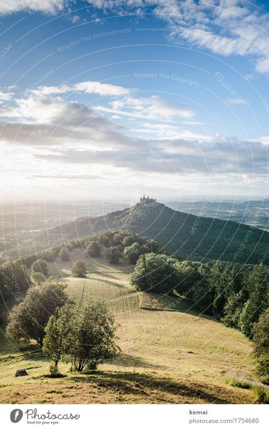 Hohenzollern Natur Ferien & Urlaub & Reisen Sommer schön grün Baum Landschaft ruhig Ferne Wiese außergewöhnlich Freiheit Tourismus Zufriedenheit Ausflug