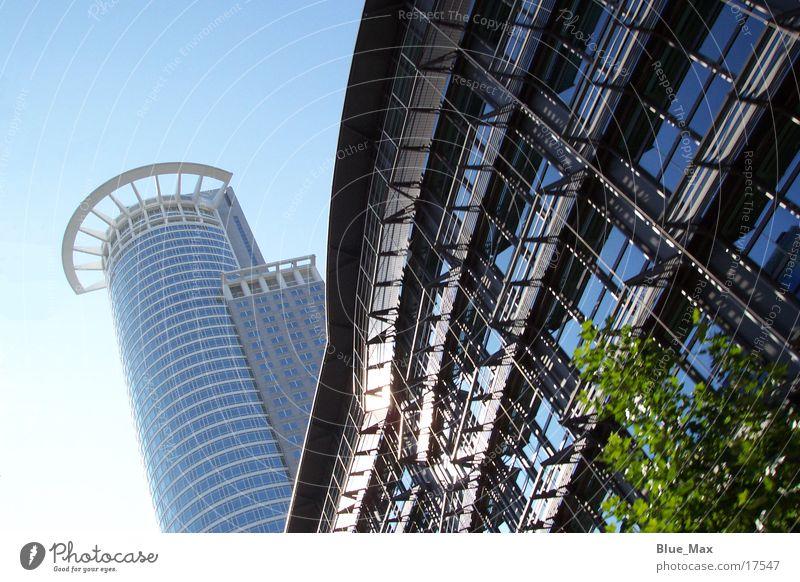 Frankfurt Skyline Hochhaus Gebäude Sommer Frankfurt am Main Architektur Blauer Himmel
