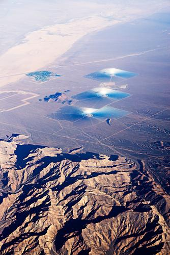 U.F.O.? Landschaft außergewöhnlich Technik & Technologie Energie Zukunft Klima USA Wüste Sonnenenergie Solarzelle Klimawandel Erneuerbare Energie Kalifornien