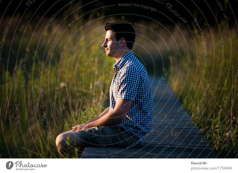 am Steg Glück Körper Gesundheit Leben harmonisch Wohlgefühl Zufriedenheit Sinnesorgane Erholung ruhig Meditation Ferien & Urlaub & Reisen Ausflug Abenteuer
