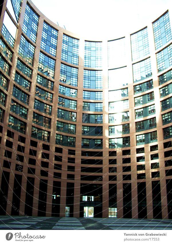 sun@europaparlament Europa Reflexion & Spiegelung Fenster Architektur Houses of Parliament Sonne