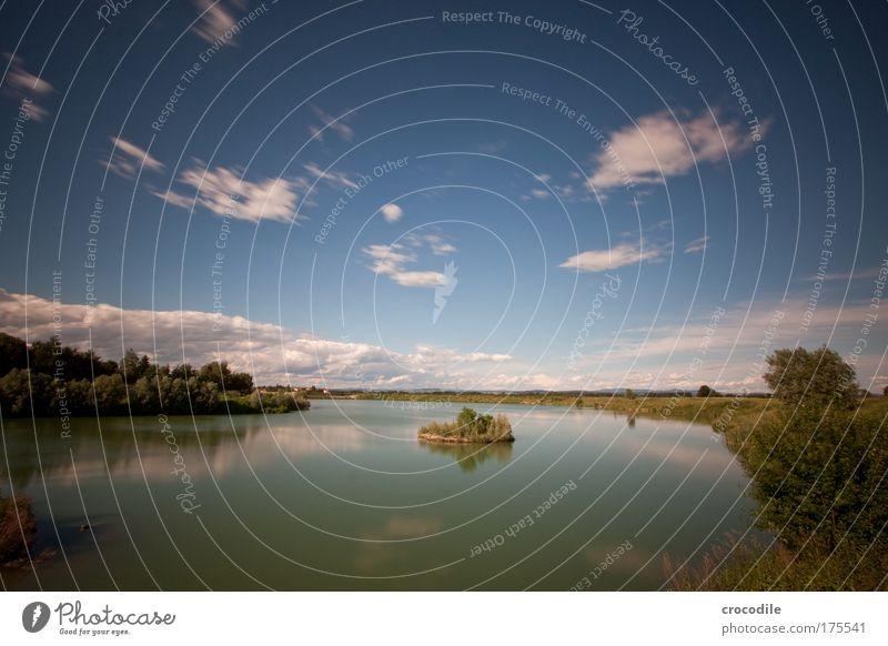 Baggersee Farbfoto Außenaufnahme Menschenleer Tag Schatten Kontrast Sonnenlicht Bewegungsunschärfe Starke Tiefenschärfe Zentralperspektive Panorama (Aussicht)