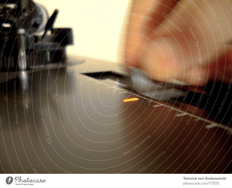 pitching Diskjockey Plattenspieler fade Unschärfe Elektrisches Gerät Technik & Technologie turntable Bewegung blur Plattenteller