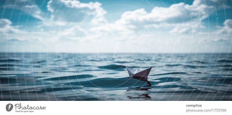 Eine kleine Reise Kind Himmel Ferien & Urlaub & Reisen Sommer Sonne Meer Erholung Wolken Ferne Strand Küste Spielen Schwimmen & Baden See Freizeit & Hobby