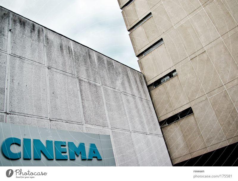 kinotag alt Haus dunkel Wand Mauer Gebäude Architektur Beton Fassade retro trist Filmindustrie Bauwerk historisch Kino