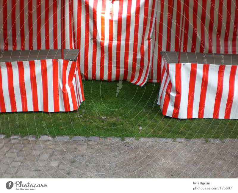 Schlossparkfest, 01.08.09, 9:36 Uhr weiß grün rot Freude Einsamkeit grau Feste & Feiern Freizeit & Hobby leer Streifen Jahrmarkt gestreift Markise Marktstand