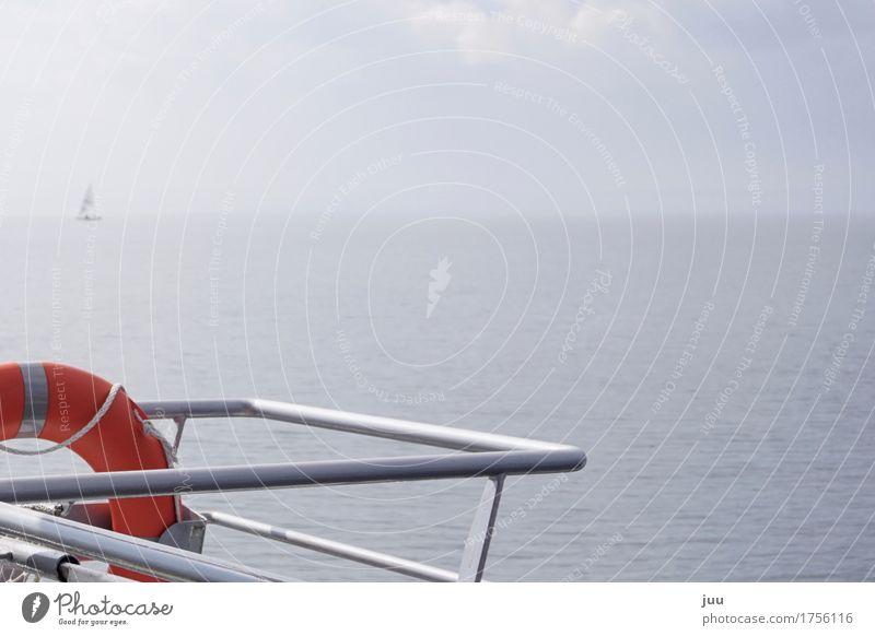 Wenn ich die See seh, seh ich kein Meer mehr Himmel Natur Ferien & Urlaub & Reisen blau Sommer Wasser Sonne rot Ferne Deutschland Wetter Nebel Wellen stehen