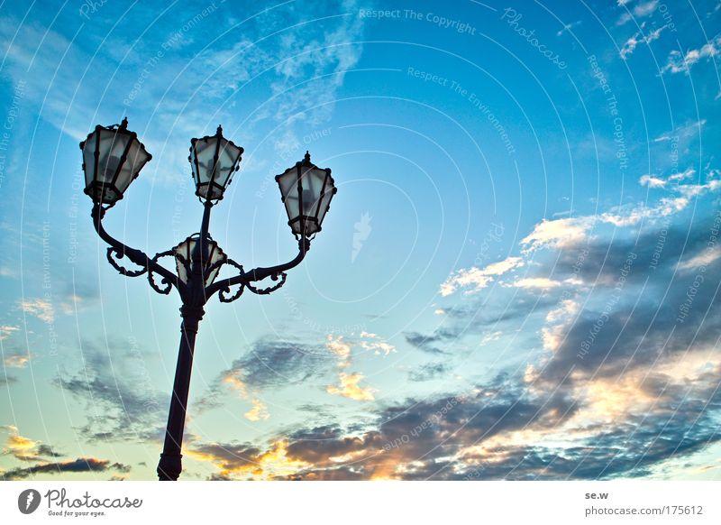 Poseidon? Himmel Stimmung Wetter Laterne Gewitterwolken