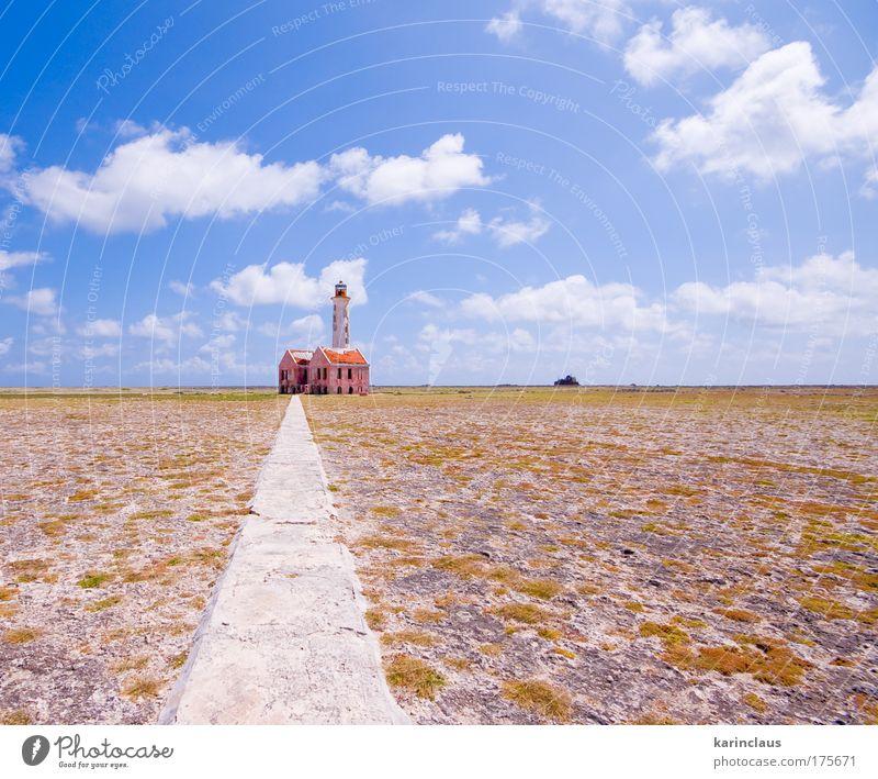 alte Leuchtturmruine Kultur Umwelt Natur Landschaft Urelemente Erde Himmel Wolken Sonnenlicht Klima Schönes Wetter Strand