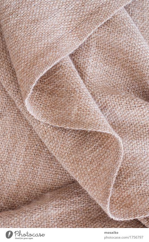 Nahaufnahme Alpaka Wolle Design Herbst schlechtes Wetter Mode Pullover weich braun Hintergrundbild Material gewebt Schal kuschlig Wärme Falte Textilien