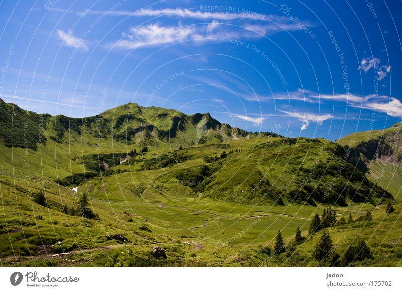 bergwelt Außenaufnahme Textfreiraum oben Totale ruhig Expedition Berge u. Gebirge Klettern Bergsteigen Landschaft Schönes Wetter Gipfel träumen Unendlichkeit