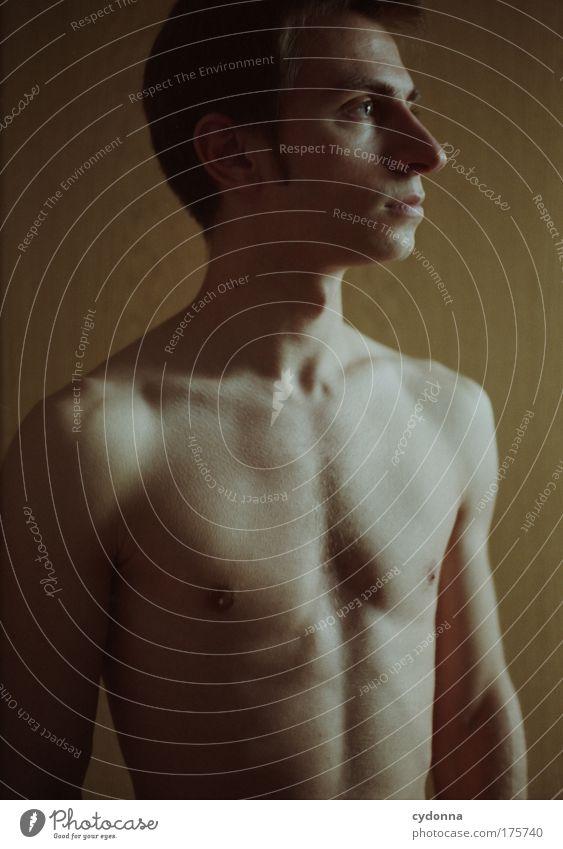 Klassisch Mensch Mann schön Gesicht Erotik Leben nackt Freiheit Kraft Kunst Gesundheit Körper Haut Erwachsene elegant