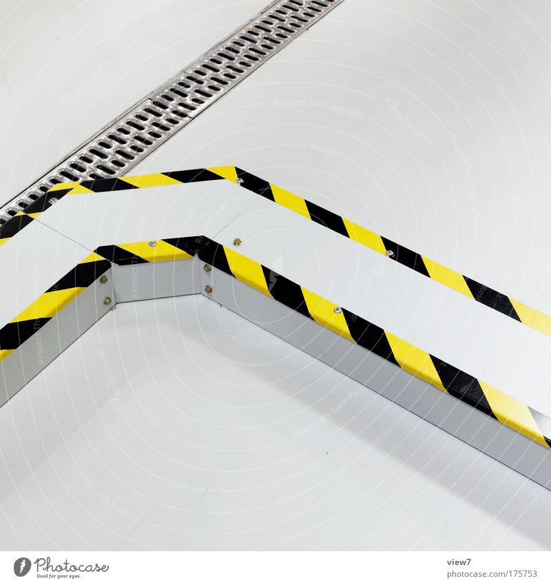 kein Kabelsalat weiß gelb Farbe hell Raum Metall Wohnung Schilder & Markierungen Industrie Sicherheit modern Ordnung neu Güterverkehr & Logistik