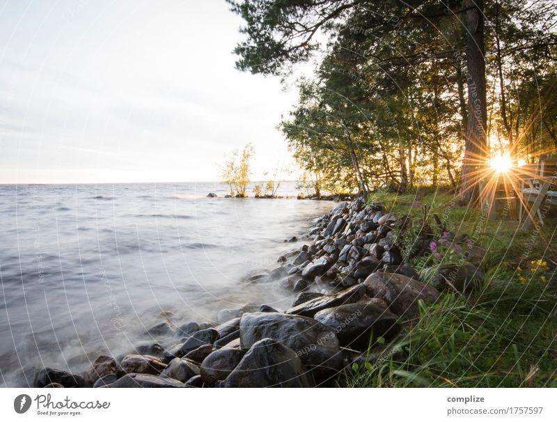 Lappajärvi Ferien & Urlaub & Reisen Freiheit Sommer Sommerurlaub Sonne Sonnenbad Strand Insel Wellen Umwelt Natur Himmel Sonnenaufgang Sonnenuntergang