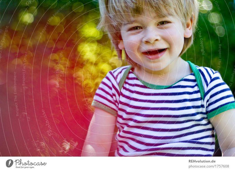 klangfarbe | kinderlachen Mensch maskulin Kind Kleinkind Junge Kindheit 1 1-3 Jahre Umwelt Natur Sonne Sommer Schönes Wetter Garten Lächeln authentisch