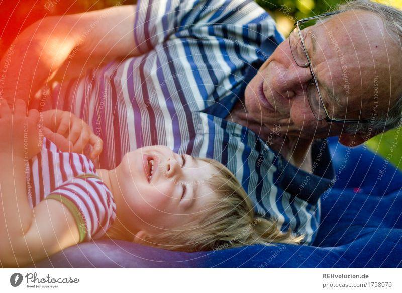 bester opa   auf dem luftpuffer Mensch maskulin Kind Kleinkind Junge Mann Erwachsene Männlicher Senior Großvater Familie & Verwandtschaft 2 1-3 Jahre