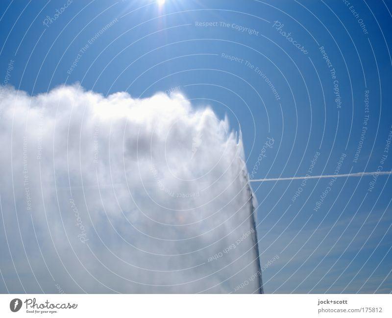 Hier spukt kein Geysir Himmel Natur blau schön weiß Wasser Sommer Wachstum Kraft ästhetisch nass Kraft Schönes Wetter rein Flüssigkeit Sehenswürdigkeit