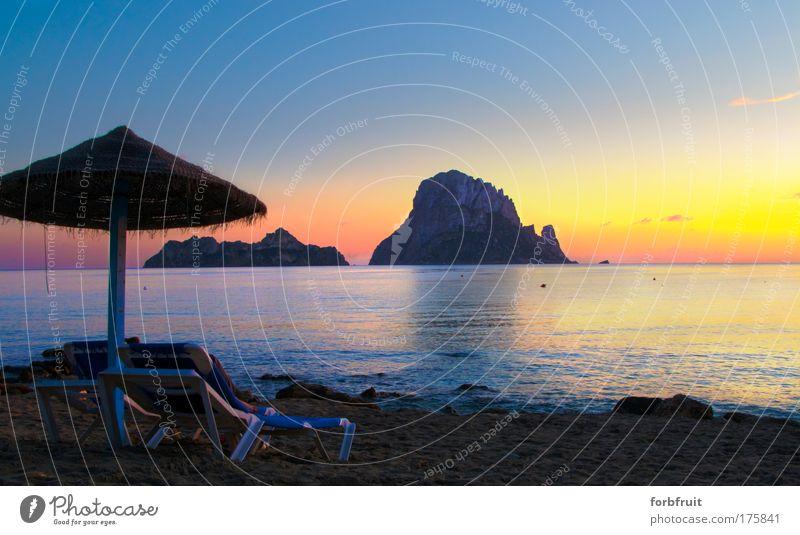 Argayall Himmel blau Wasser schön Sommer Meer Strand Ferne gelb Erholung Freiheit Glück Küste Stimmung Horizont Zufriedenheit