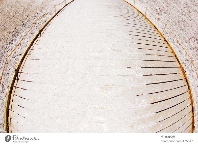 Badwater. Ferien & Urlaub & Reisen Einsamkeit Strand Straße Wege & Pfade Küste Holz Sand Horizont Design Freizeit & Hobby ästhetisch Erfolg Idee einzigartig Hoffnung